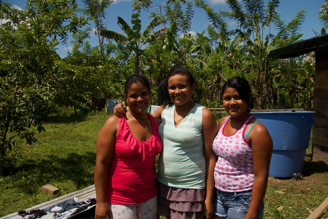 Young women in Colombia